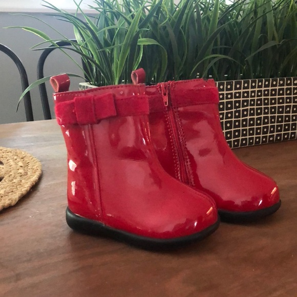 GAP Other - Baby GAP Red Patent Leather Boots (Infant Girls)
